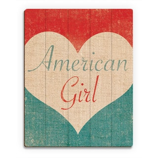 Heart of an American Girl' Abstract Wall Art on Birchwood