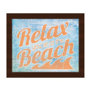 Relax at the Beach' Framed Canvas Wall Art