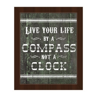 Live Your Life Western' Espresso Plastic Framed Canvas Wall Art