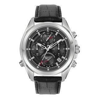 Bulova Men's 96B259 Stainless Steel Precisionist 1/1000th Chronograph Watch with 100M Water Resistance and Date