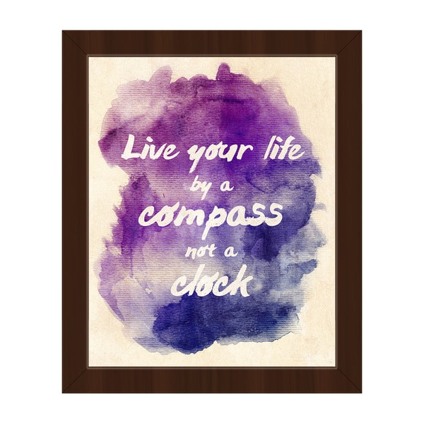 Live Your Life' Framed Canvas Wall Art