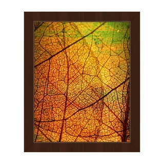 Leafy Veins Framed Canvas Wall Art