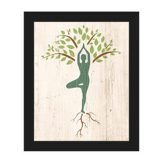 Tree Yoga' Framed Canvas Wall Art