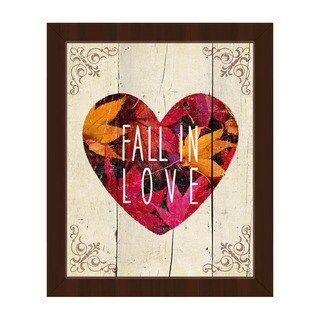 Fall in Love' Framed Canvas Wall Art