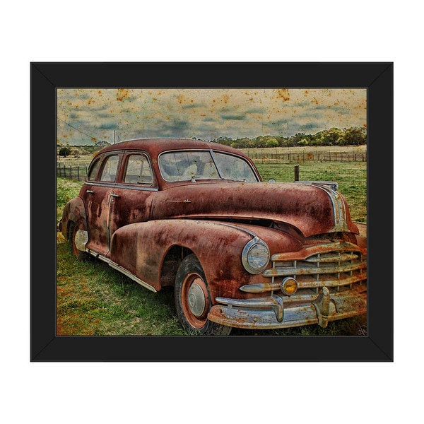 Drive Me Back' Framed Canvas Wall Art