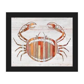 Crab' Black Plastic Framed Canvas Wall Art