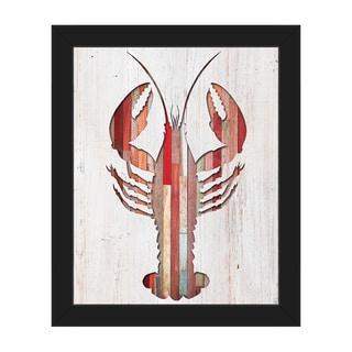Lobster' Black Canvas/Plastic Framed Wall Art