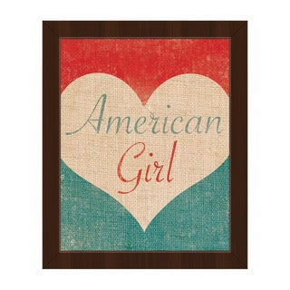 Heart of an American Girl' Framed Canvas Wall Art