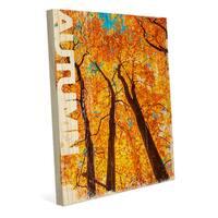 Autumn' Multicolored Canvas Wall Art