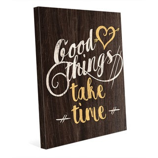 Good Things Wood Yellow' Wall Art on Canvas