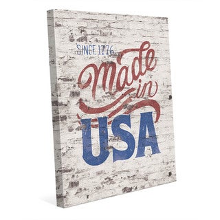 Made in the USA' Canvas Wall Art
