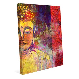 Urban Buddha' Yellow Canvas Wall Art