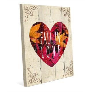 Fall in Love' Wall Art on Canvas