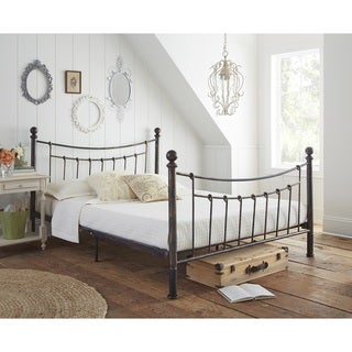 Sleep Sync Bonnie Metal Platform bed in Antique Bronze Finish