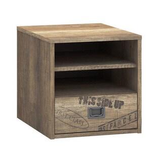Voelkel Voyager Collection Brown Wood Bedside Table