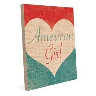 Heart of an American Girl' Canvas Wall Art