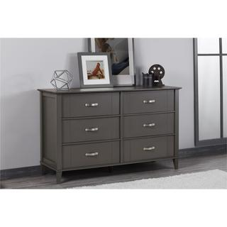 Carbon Loft Ampere Dark Grey Two-tone 6-drawer Dresser