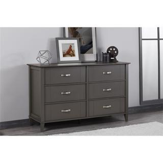 Strick & Bolton Diletta Dark Grey Two-tone 6-drawer Dresser