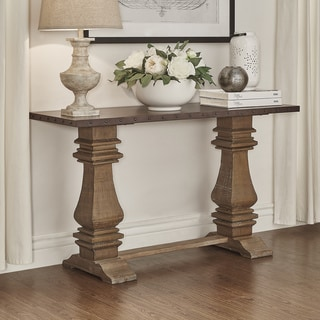 SIGNAL HILLS Voyager Wood and Zinc Balustrade Console Sofa table
