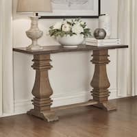 Voyager Wood and Zinc Balustrade Console Sofa table by iNSPIRE Q Artisan