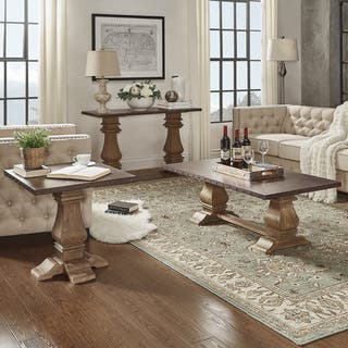 table sets living room. Voyager Wood and Zinc Balustrade Accent Tables by iNSPIRE Q Artisan Table Sets Coffee  Console Sofa End For Less Overstock com