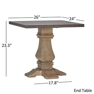 Voyager Wood and Zinc Balustrade Accent Tables by iNSPIRE Q Artisan