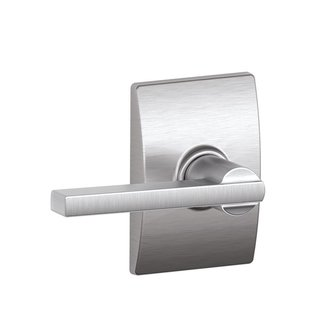 Schlage F10 LAT 619 CEN Century Collection with Latitude Passage Lever, Satin Nickel