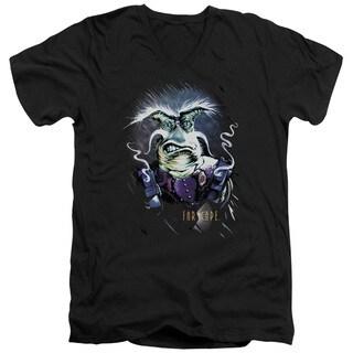 Farscape/Rygel Smoking Guns Short Sleeve Adult T-Shirt V-Neck in Black