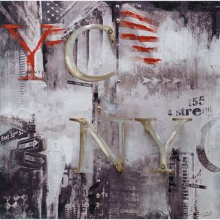 Urban Port New York Abstract-styled Oil Painting