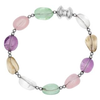 Sterling Silver Fluorite Magnetic Closure Bracelet