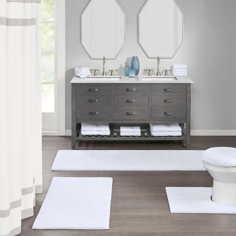 Madison Park Signature Marshmallow Bath Rug