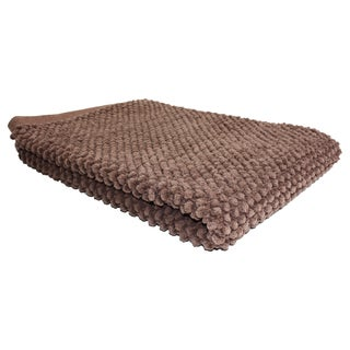 "J & M Home Fashions 7130 22"" X 30"" Chocolate Popcorn Bath Rug"