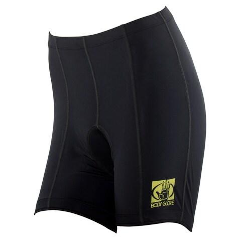 Body Glove Women's Black Lycra Pro Comfort 8-panel Cycling Shorts