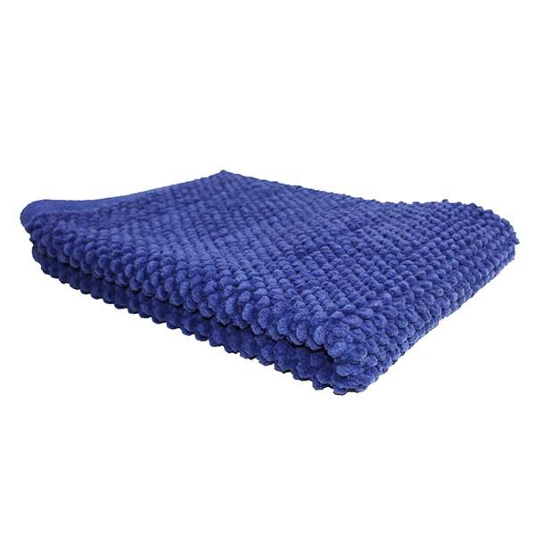 """J & M Home Fashions 7141 20"""" X 30"""" Smoke Blue Popcorn Rug"""
