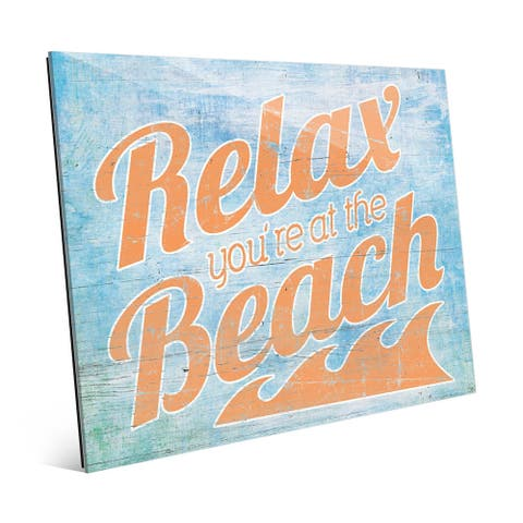 Relax at the Beach' Orange Wall Art on Acrylic