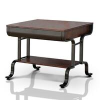 Furniture of America Ilios Transitional 1-drawer Two-Tone End Table