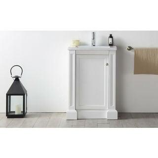 Legion Furniture 24-inch White Single-sink Vanity with Ceramic Top