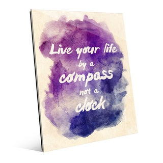 Live Your Life' Multicolored Acrylic Watercolor Wall Art