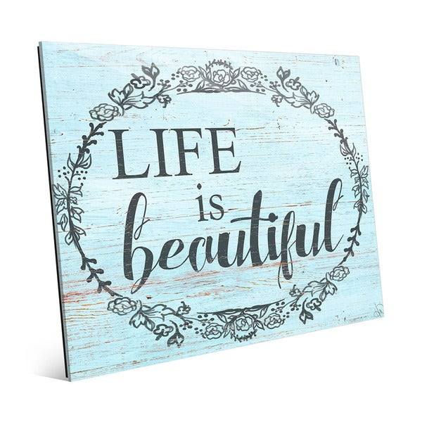 Life is Beautiful\' Acrylic Wall Art - Free Shipping Today ...