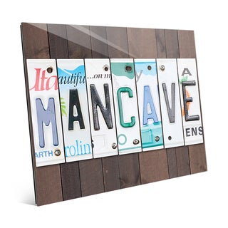 License Plate Man Cave Wall Art on Acrylic