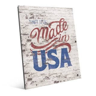 Made in USA' Multicolored Acrylic Wall Art