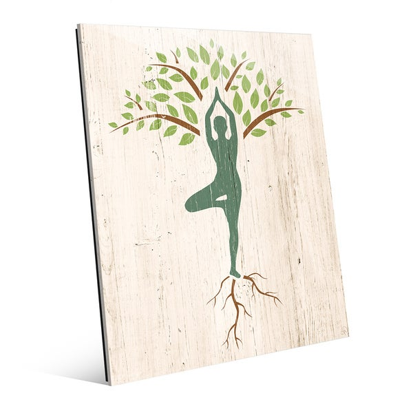 Tree Yoga' Wall Art on Acrylic