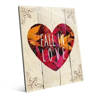 Fall in Love' Wall Art on Acrylic (More options available)