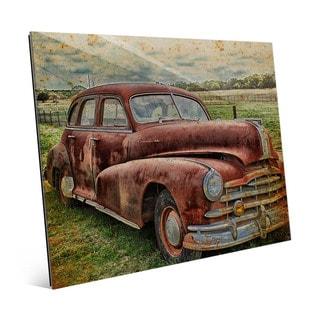 Drive Me Back' Multicolored Acrylic Wall Art