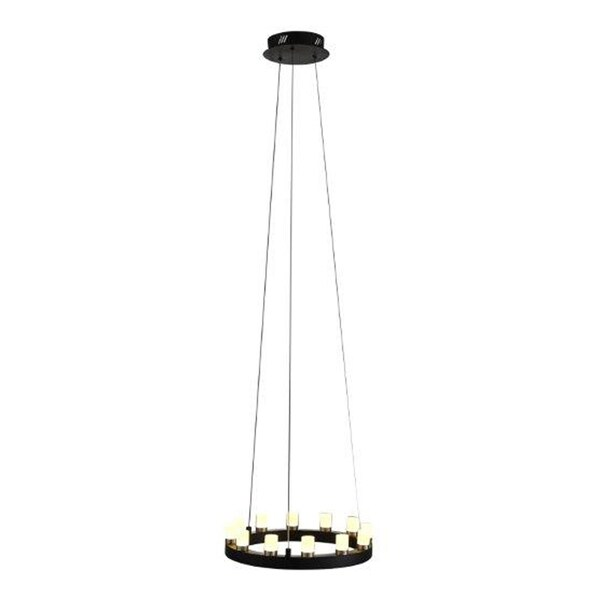 OVE Decors Hugo Black Finish LED integrated Pendant