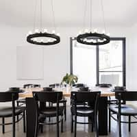 OVE Decors Hugo Black Finish LED integrated Pendant - Black Finish