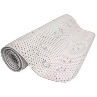 "Zenna Home 79WW04 17"" X 36"" White Foam Bath Mat"