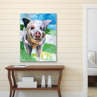 Sean Parnell 'Farm Pig' Canvas Print Wall Art
