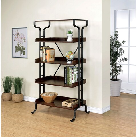 Furniture of America Ilios Transitional 5-tier Guarded Bookcase/Display Shelf