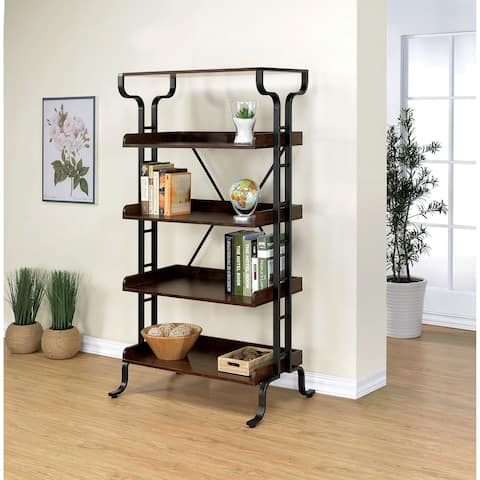 Ilios Transitional 5-tier Guarded Bookcase by FOA